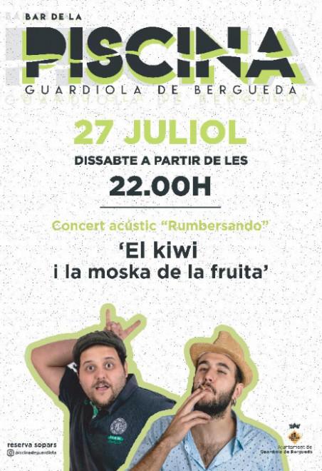 """CONCERT ACÚSTIC """"Rumbersando"""" @ Bar de la piscina de GUARDIOLA DE BERGUEDÀ"""