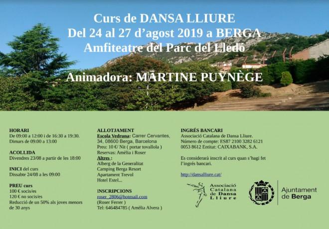 Curs intensiu de dansa lliure a Berga @ Parc del Lladó (BERGA)