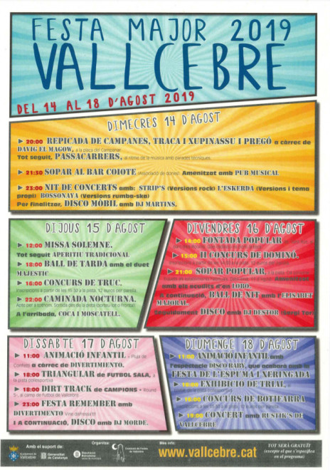 Festa Major de Vallcebre 2019 @ Vallcebre