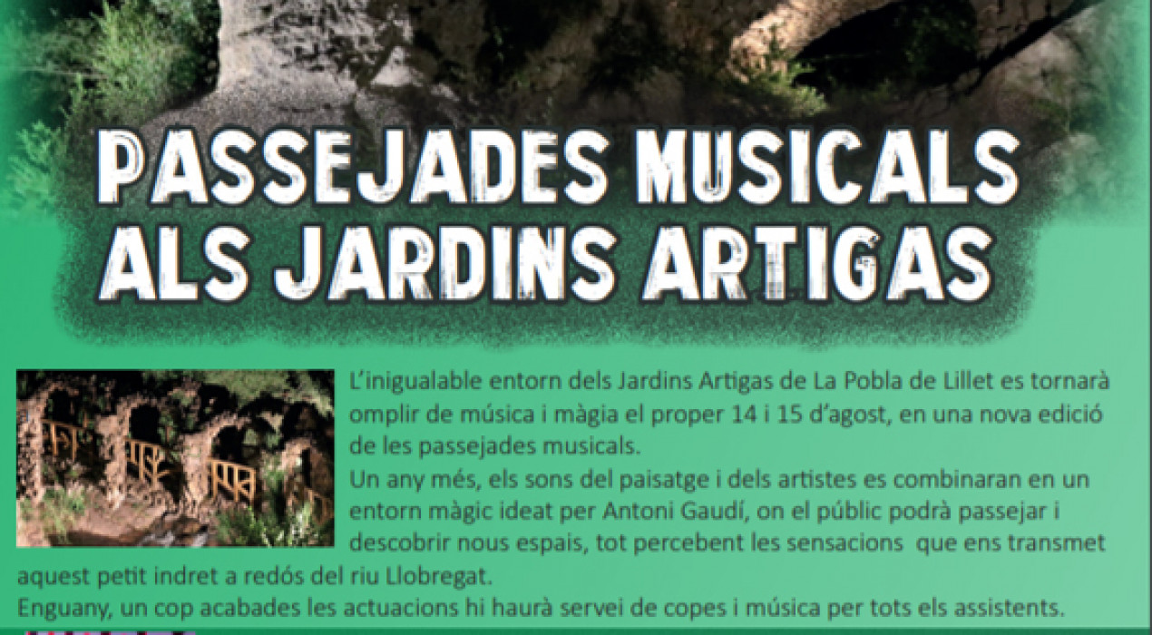 Passejades musicals als Jardins Artigas 2019