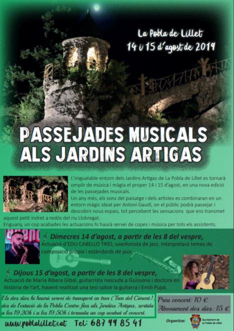 Passejades musicals als Jardins Artigas 2019 @ Jardins Artigas (La Pobla de Lillet)