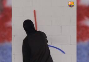 El Barça encarrega l'anunci del fitxatge de Griezmann a un muralista de Berga