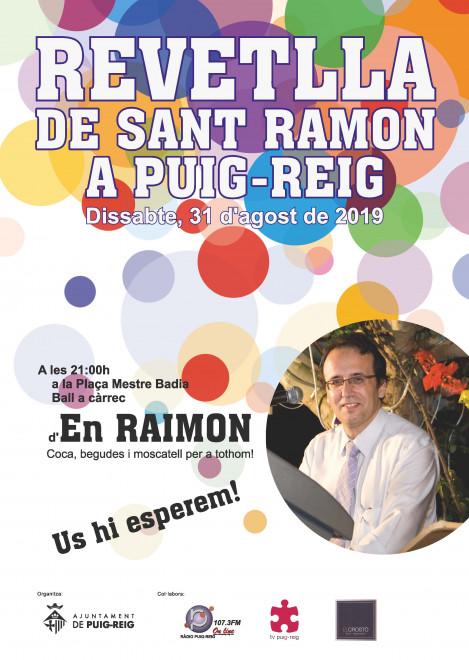 Revetlla de Sant Ramon a Puig-reig 2019 @ Plaça Mestre Badia (PUIG-REIG)