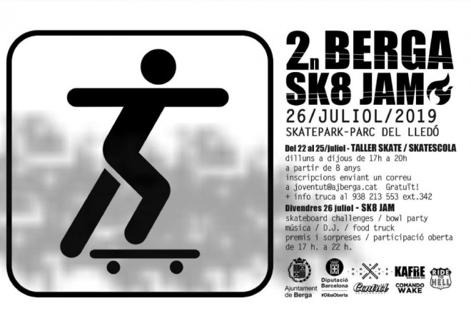Jam Skate · juliol 2019 @ Skatepark del Lledó (BERGA)
