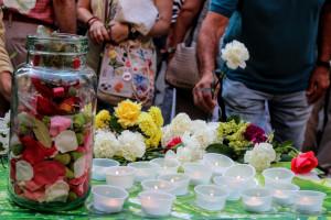 Concentració a Berga en record a les víctimes dels atemptats de Barcelona i Cambrils del 17A