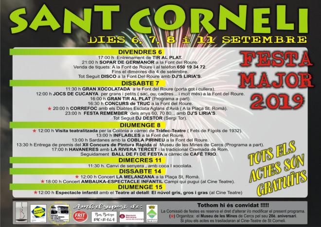 Festa Major de Sant Corneli 2019 @ Sant Corneli