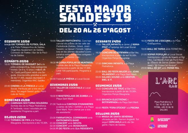 Festa Major de Saldes 2019 @ Saldes