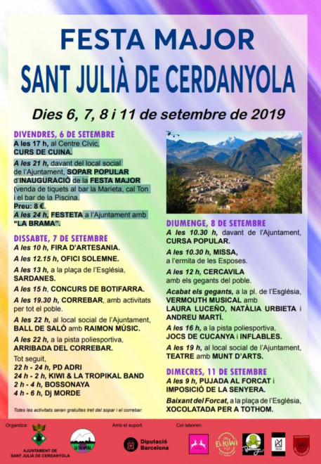 Festa Major de Sant Julià de Cerdanyola 2019 @ Sant Julià de Cerdanyola