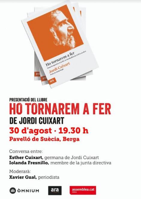 """Presentació del llibre """"Ho tornarem a fer"""" @ Pavelló de Suècia (BERGA)"""