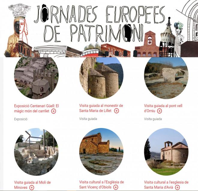 Jornades Europees del Patrimoni 2019 @ LA POBLA DE LILLET i AVIÀ