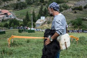 Juli Bayot i el seu gos, Gandalf, guanyen el 57è concurs de gossos d'atura de Castellar de n'Hug