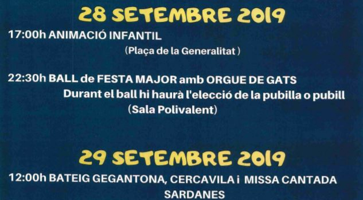 Festa Major de Sant Miquel 2019
