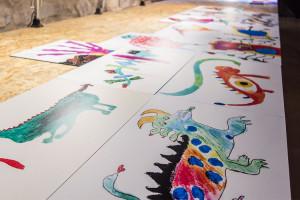 Les escoles del Berguedà dibuixen els seus monstres del romànic i els exposen al monestir de Sant Llorenç