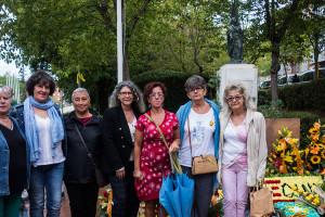 Ginkgo hissa l'estelada davant el monument de Rafael Casanova en motiu del seu 10è aniversari