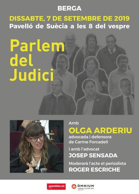 Parlem del judici @ Pavelló de Suècia (BERGA)