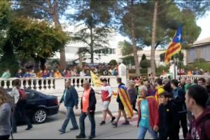 Gironella protagonitza un dels moments més càlids de la marxa per la llibertat