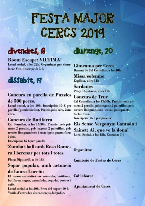 Festa Major de Cercs 2019 @ Cercs