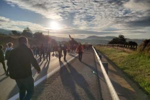 La marxa per la llibertat al Berguedà, en imatges