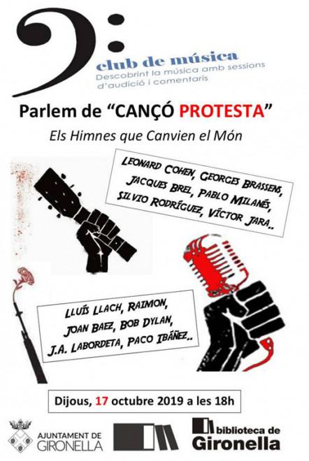 Club de Música: Parlem de cançó de protesta @ Biblioteca de Gironella
