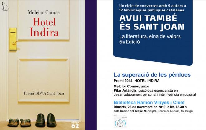 Club de lectura: Hotel Indira @ Sala Casino (BERGA)