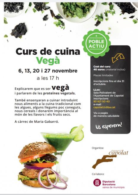 Curs de cuina vegana @ Sala polivalent de Ajuntament de Capolat