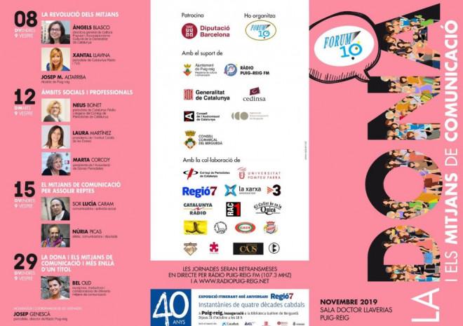Fòrum 10 · 2019: les dones i els mitjans de comunicació @ Sala Doctor Llaverias (PUIG-REIG)