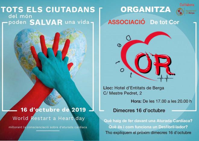 Jornada Mundial de Conscienciació de l'Aturada Cardiorespiratòria @ Hotel d'entitats de Berga