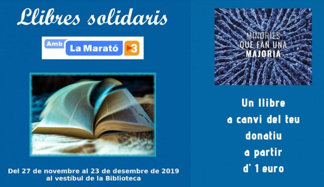Llibres solidaris per la Marató de TV3 @ Biblioteca Ramon Vinyes i Cluet (BERGA)