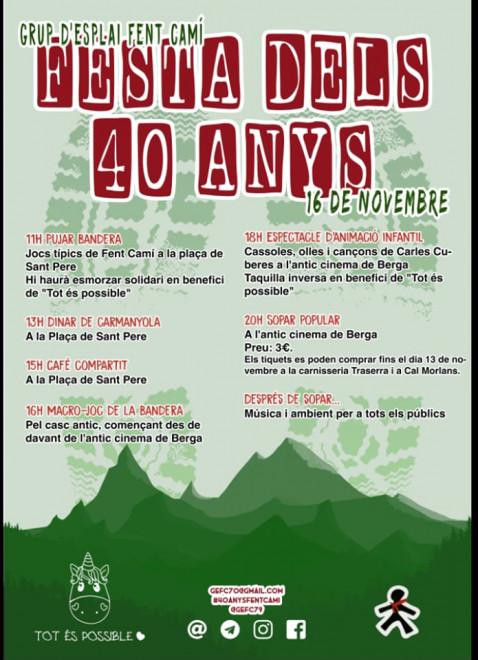 Festa 40 anys Grup d'Esplai Fent Camí @ Berga