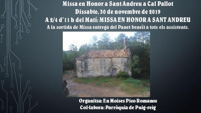 Missa en Honor a Sant Andreu @ Cal Pallot (PUIG-REIG)