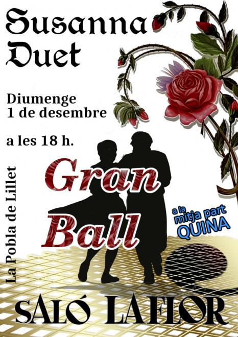 Ball a La Pobla de Lillet: Susanna Duet @ Saló La Flor (LA POBLA DE LILLET)