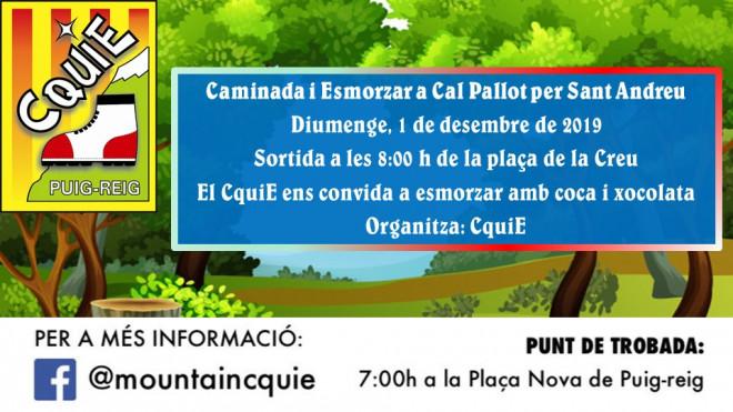 Caminada i Esmorzar a Cal Pallot @ Sortida: plaça nova (PUIG-REIG)