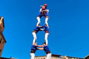 Els Castellers de Berga tanquen el 2019 carregant la seva primera torre de 7 de l'any