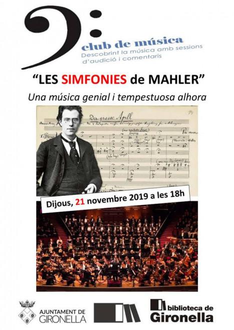 Club de música: Les simfonies de Mahler @ Biblioteca de Gironella