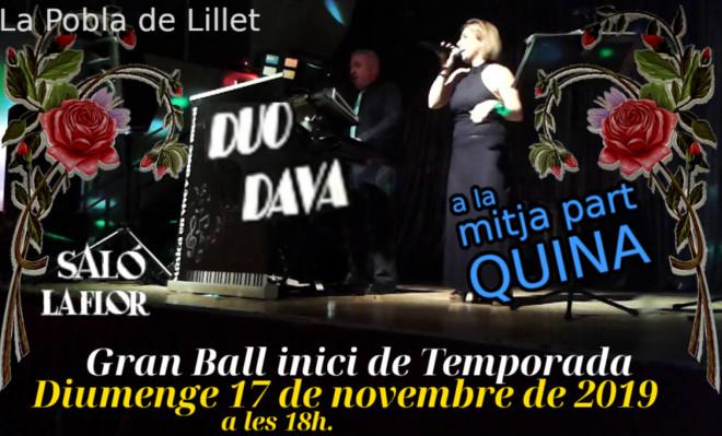 Ball a La Pobla de Lillet: DUO DAVA @ Saló La Flor (LA POBLA DE LILLET)