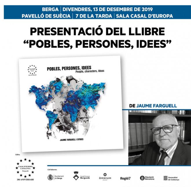 """Presentació del llibre: """"Persones, Pobles, Idees"""" @ Pavelló de Suècia (BERGA)"""