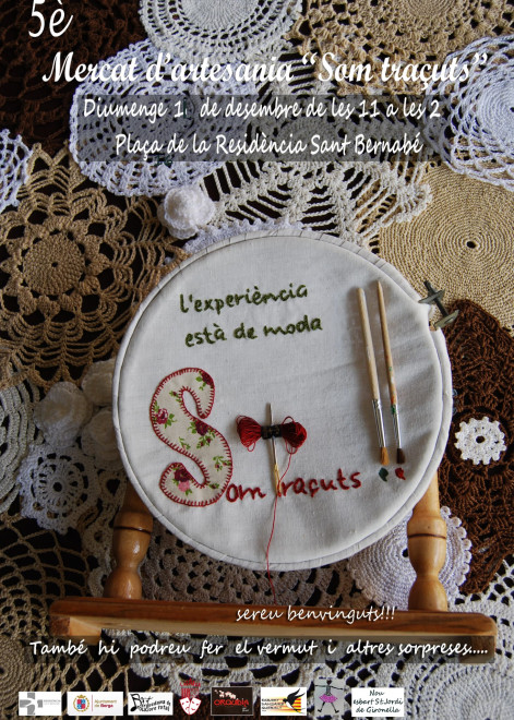 """MERCAT D'ARTESANIA """"Som traçuts"""" @ Plaça de la residència Sant Bernabé de BERGA"""