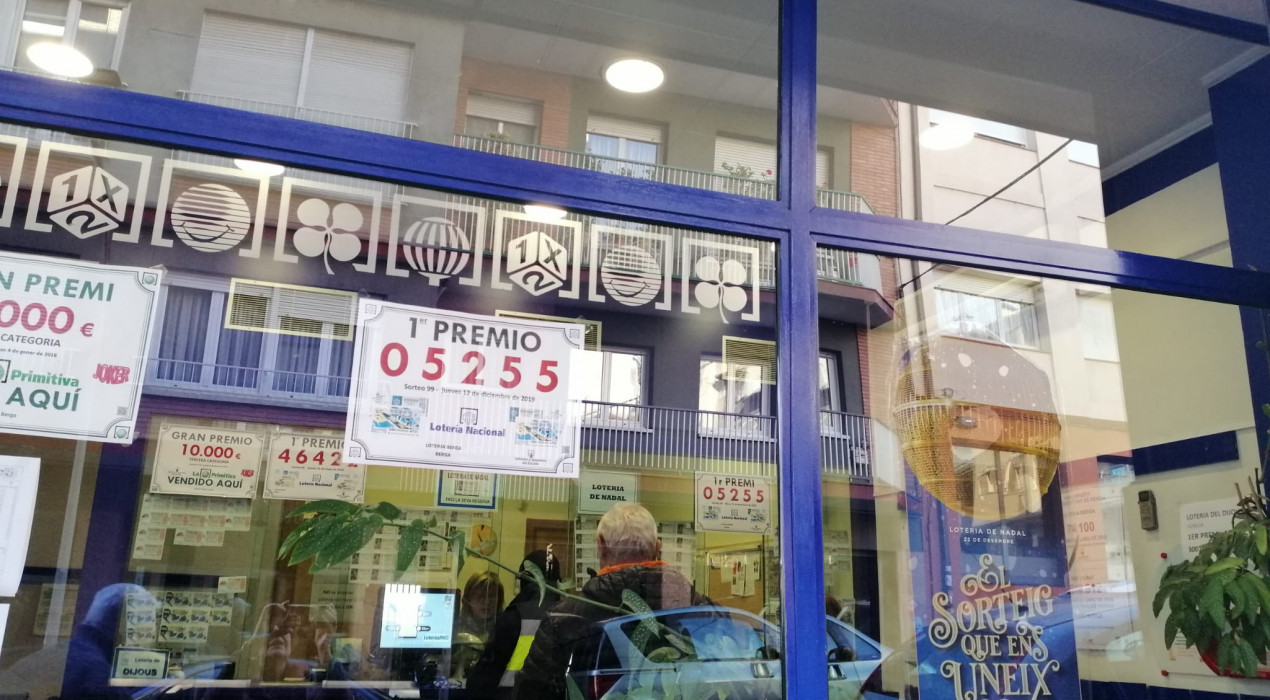 El primer premi de la Loteria Nacional deixa 30.000 euros a Berga