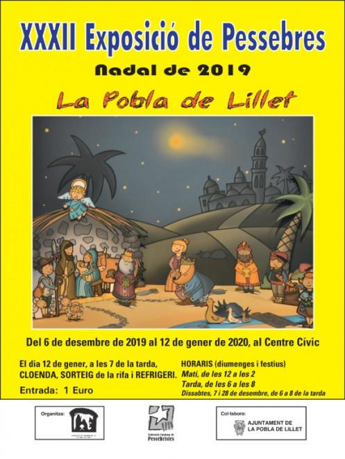 Exposició de Pessebres 2019 @  Centre Cívic (LA POBLA DE LILLET)