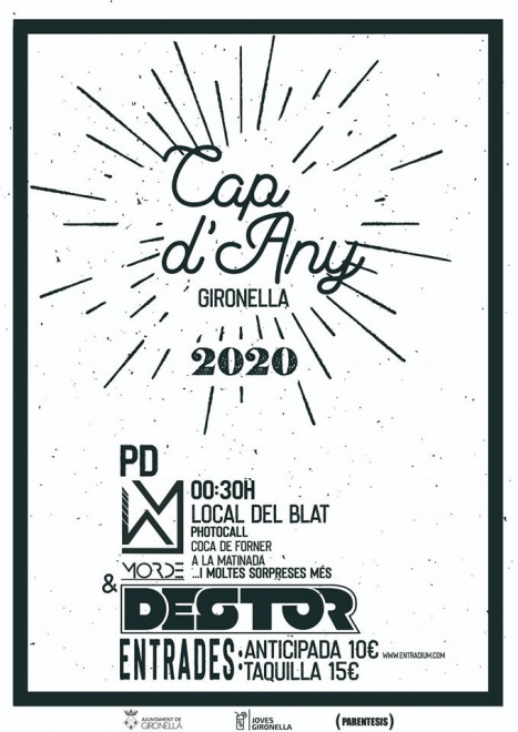 Cap d'any 2020 a Gironella @ Local del Blat (GIRONELLA)
