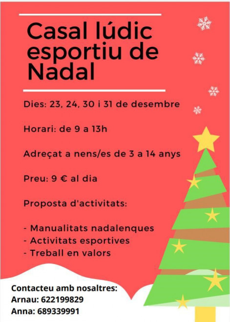 Casal de Nadal de Montmajor 2019 @ Local del Comú (MONTMAJOR)