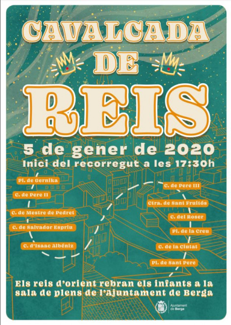 Cavalcada Reis Mags d'Orient a BERGA 2020 @ Sortida: plaça Gernika