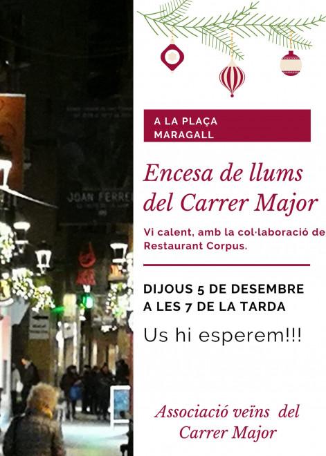 Encesa llums Nadal 2019 Carrer Major Berga @ Plaça Maragall (BERGA)