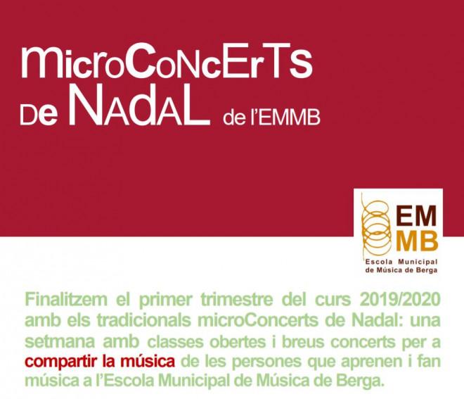 Microconcerts de Nadal de de l'EMMB 2019 @ Escola Municipal de Música de Berga