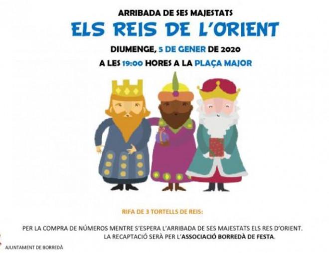 Cavalcada Reis Mags d'Orient 2020 a BORREDÀ @ Borredà