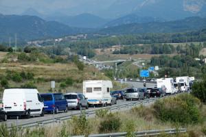 L'operació sortida del cap de setmana llarg de l'11-S provoca cues de fins a 15km a la C-16, entre Gironella i Cercs