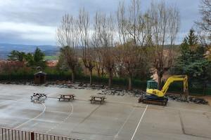 Comencen les obres al pati de l'Escola Sant Joan