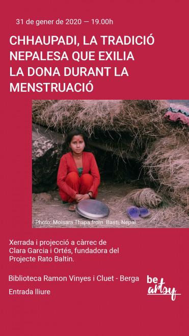 Xerrada i projecció: Chhaupadi @ Biblioteca Ramon Vinyes i Cluet (BERGA)