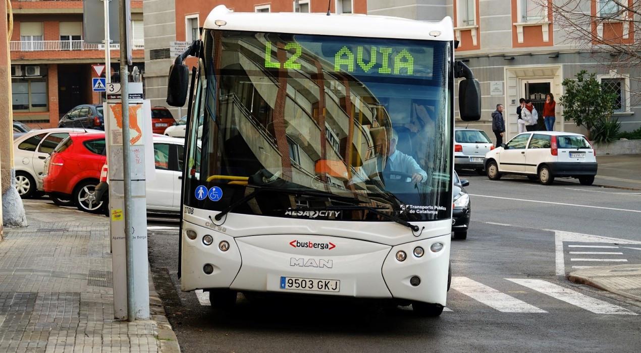 El bus urbà de Berga serà gratuït a partir del 6 d'abril per reduir la interacció entre xofers i usuaris
