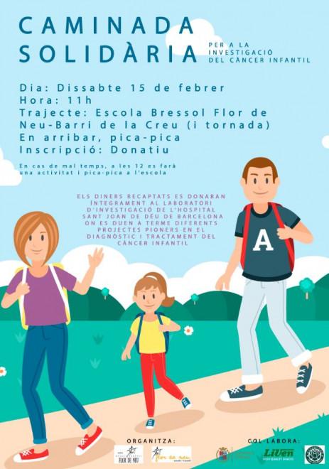 Caminada solidària amb el càncer infantil @ Escola Bressol Flor de Neu (BERGA)